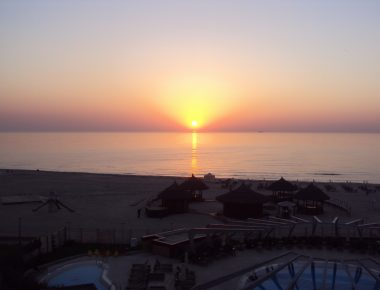 sunset romania black sea