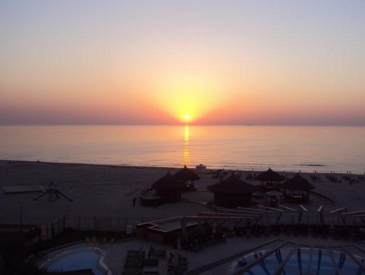 sunset romania black sea